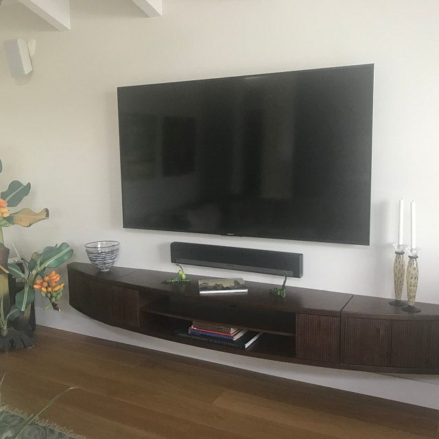 Curved Wall Mount Floating Entertainment Center Tv Stand Arc Etsy Wall Mount Entertainment Center Curved Walls Floating Entertainment Center Curved tv stand with mount
