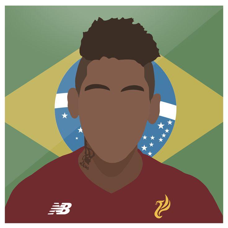 Firmino 😶  #Liverpool #LFC #YNWA #Firmino #Roberto #Brasil #Premiership #Brazil #Anfield #Football #England #Sport #Design #Futbol #Illustrator #Photoshop #Vector