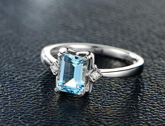 1 02ctw aquamarine engagement ring vs wedding band