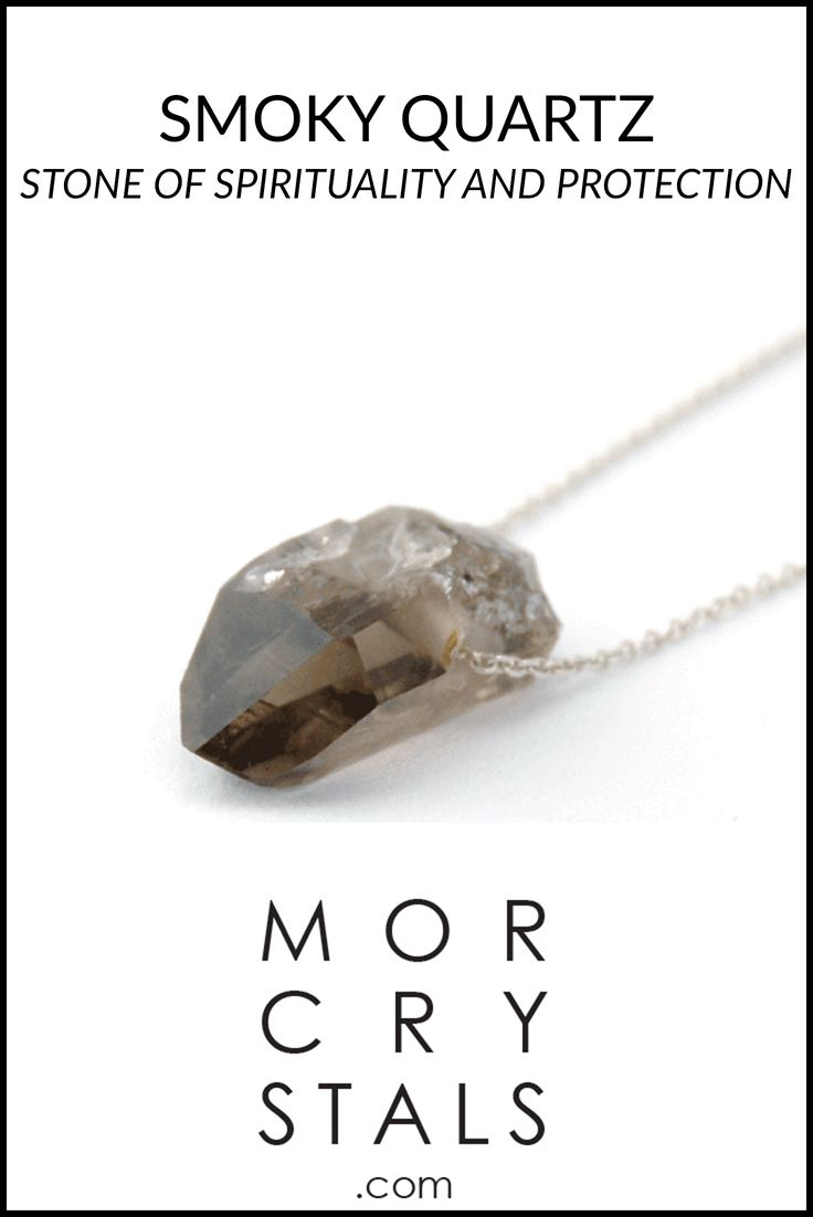 Raw and natural high grade Smoky Quartz crystal made in to a pendant with a 45 cm 925 silver chain. Made with recycled silver.