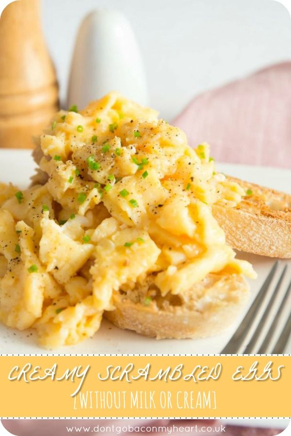 How To Make The Best Scrambled Eggs Without Milk Without Cream And Most Importantly Without A Microwave There S A Best Scrambled Eggs Recipes Scrambled Eggs