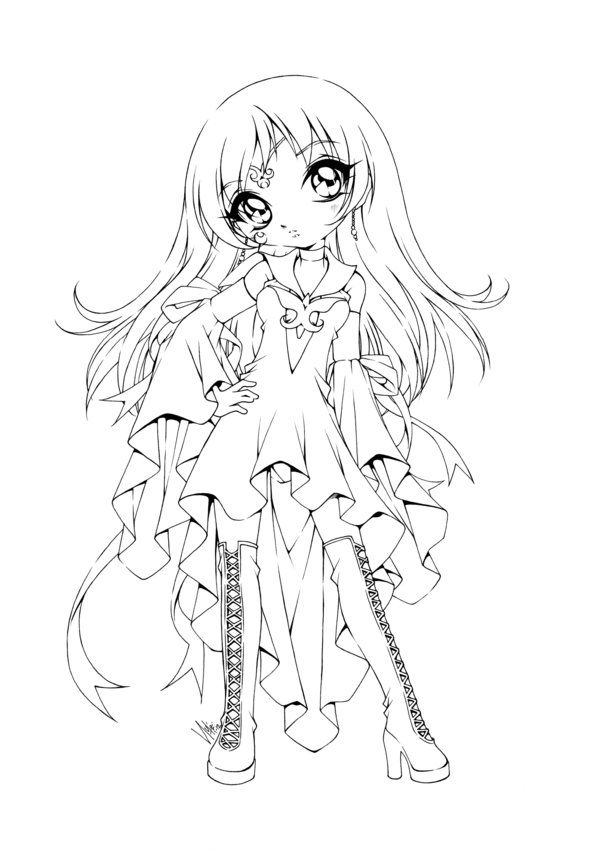 Traditionnal art ink other rozen maiden kanaria belong to peach pit she 39 s a character - Dessin de manga a colorier ...