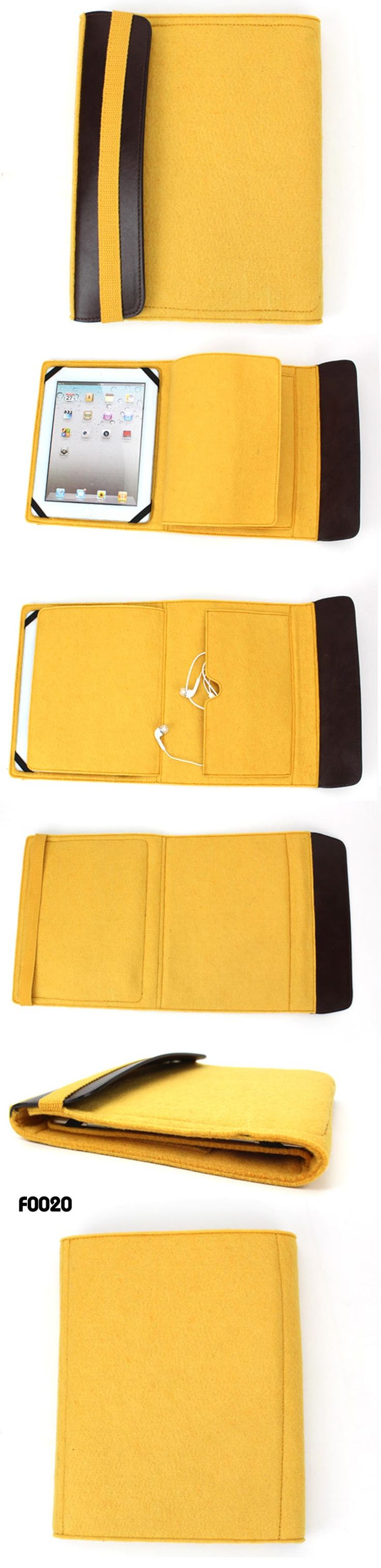 Felt tablet case for ipad  Feature :   eco-friendly Felt  with pu decor,with additonal middle layer to protect your ipad well  with inside pocket for you tech accessory  product size: 22*27cm www.ideagroupigm.com