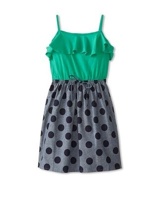 59% OFF Peas & Queues Kid's Aura Dress (Chambray Dot)