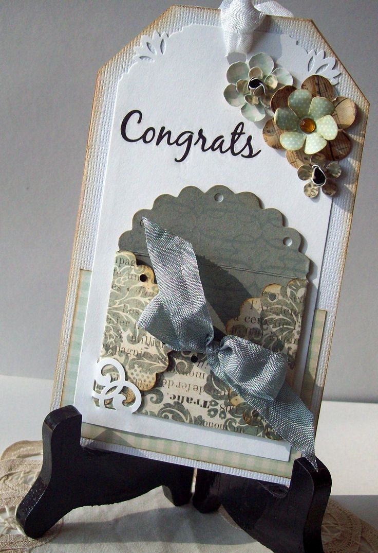 Wedding Shower Gift Card Holders : Wedding Shower card taggift card holder (harsh lighting ...