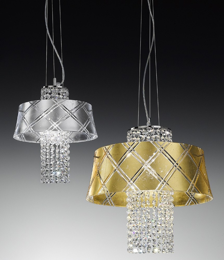 fine pendant lamp, handcarved crystal glass, crystal pendants    #lighting #crystal #lamp
