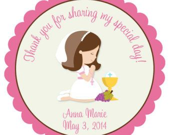 First Communion Sticker First Communion Favor by TheButterflyPress