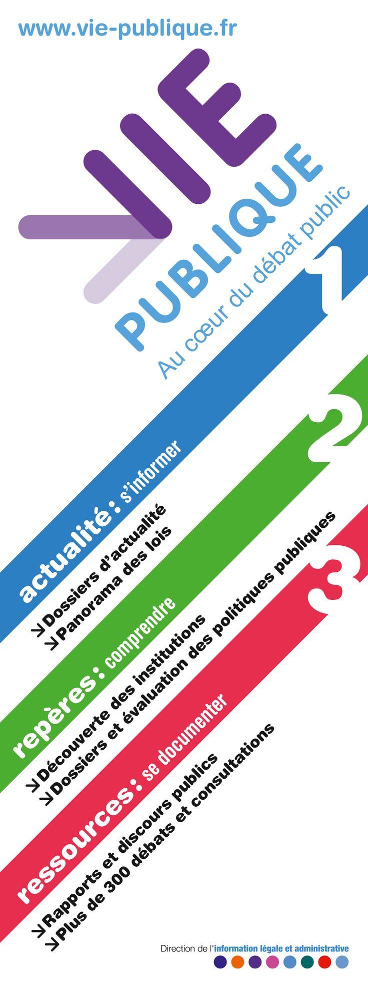 Visuel du kakemono du portail vie-publique.fr