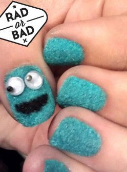 Rad Or Bad: The Cookie Monster Mani+#refinery29