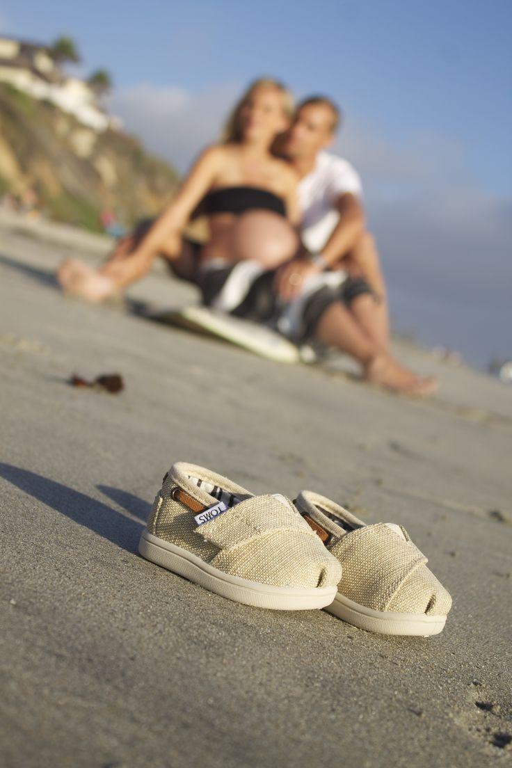 Pregnancy Beach Photo- baby Toms!