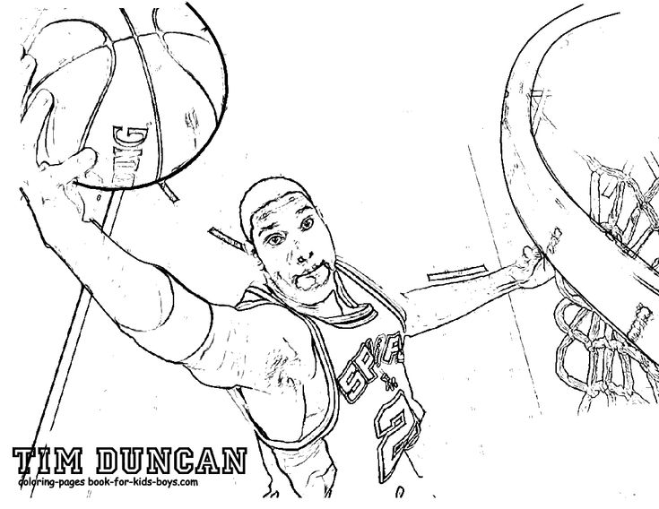 You Can Print Out Fired Up Basketball Coloring Pictures Of Real Stuff Free Sports Printables Famous Players Jordan Shaq Kobe