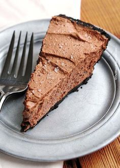 Bailey's Salted Caramel Chocolate Pie Recipe is super duper easy to make. (And even easier to eat!)