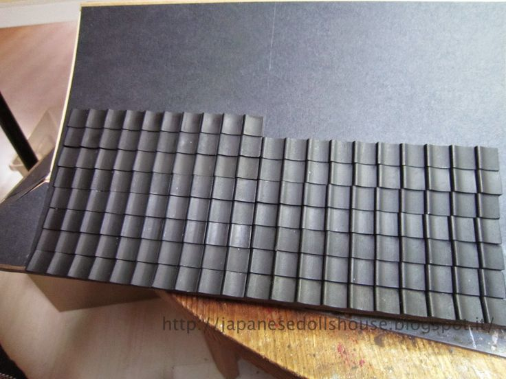 Starting on the tile work for the roof. japanese ryokan
