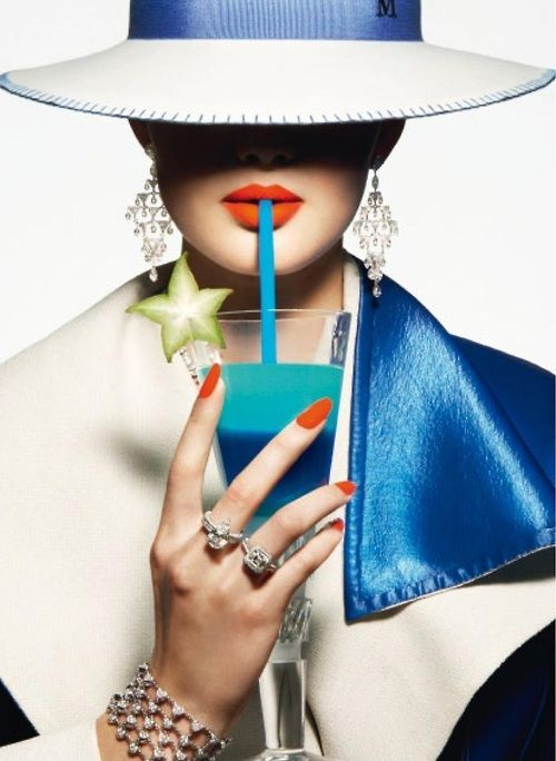 D'été Cocktail. For Vogue Paris June/July 2014. By Thomas Lagrange