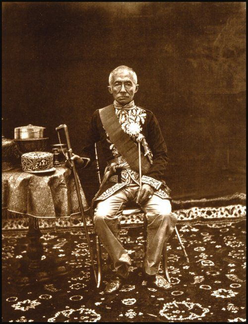 John Thomson,  King Mongkut of Siam, Bangkok (European Dress), 1865 - 1866.  Source: National Library of Scotland