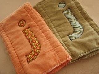 Homemade burp cloths... gift idea?