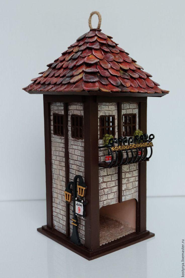 Купить Чайный домик с балконом №2 - коричневый, чайный домик, купить чайный домик, для чая