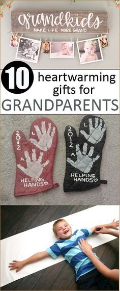 10 Heartwarming Gifts for Grandparents.  Give the gift of love to grandparents.  Shower Grandparents with sentimental gifts they'll cherish.  Christmas Gift Ideas. (Diy Gifts For Mothers)