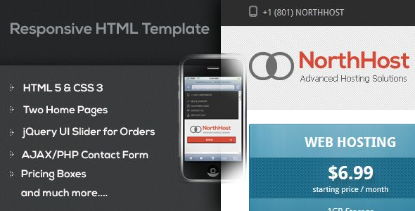 North Host – Web Hosting, Responsive WHMCS Template