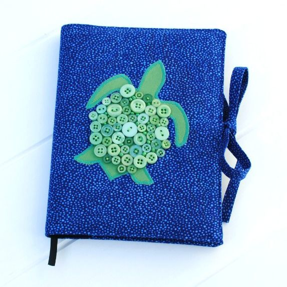 Button shell turtle journal/notebook cover