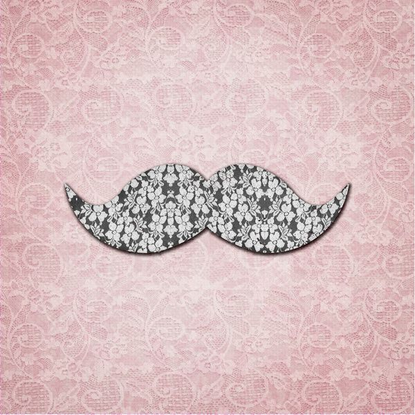 mustashes backgrounds | Girly Floral Lace Mustache pink floral lace Art Print