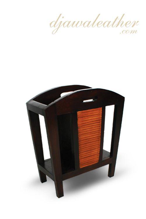 Simple but unique design, Laurie Bamboo Magazine Holder.