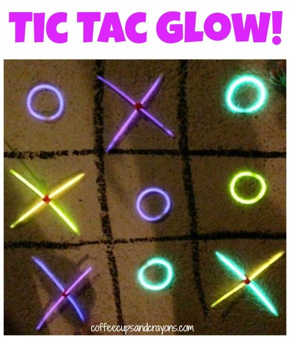 Glow in the Dark Tic Tac Toe! Just think... a little glow in the dark paint. Some velcro and the kids have one on their walls! How cool would that be? :-)