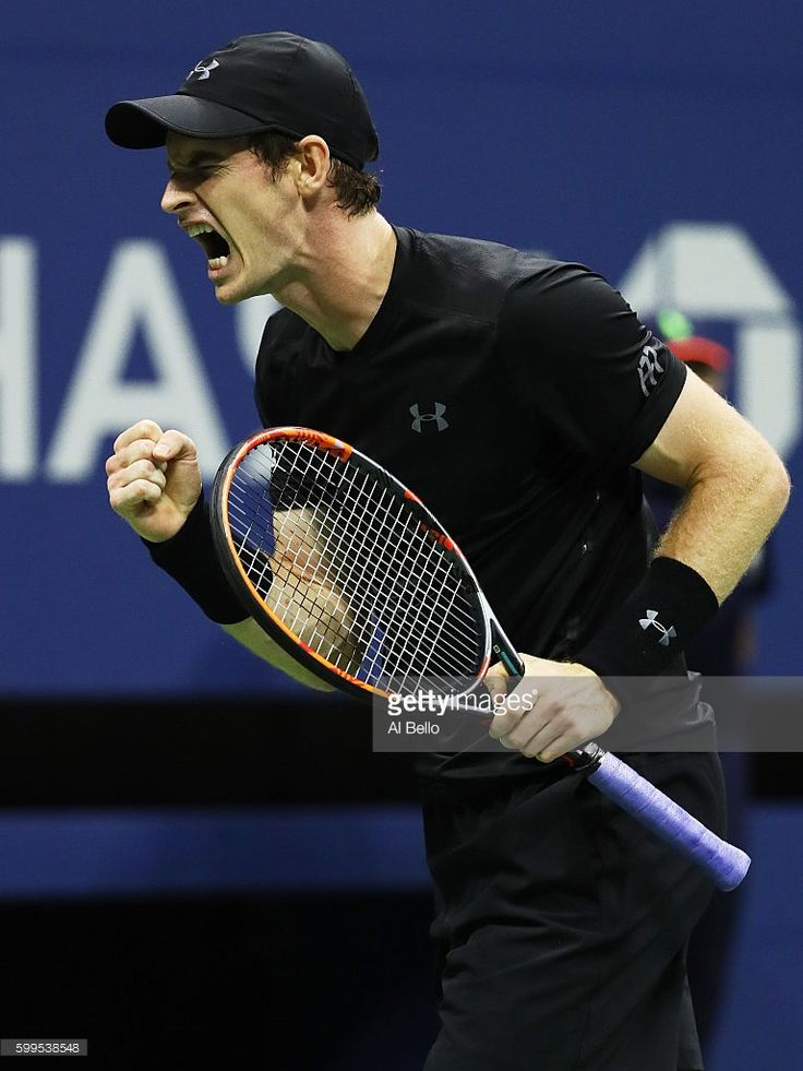 Andy Murray of Great Britain reacts against Grigor Dimitrov of Bulgaria during his fourth round Men's Singles match on Day Eight of the 2016 US Open at the USTA Billie Jean King National Tennis Center on September 5, 2016 in the Flushing neighborhood of the Queens borough of New York City.