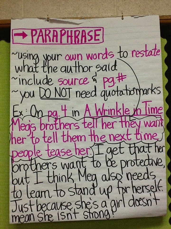 Do you cite paraphrases
