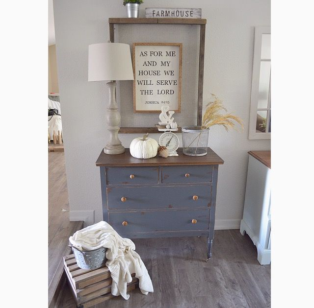 Charcoal Gray Dresser & some exciting news