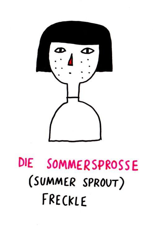 Die sommersprosse/ freckle/ peca