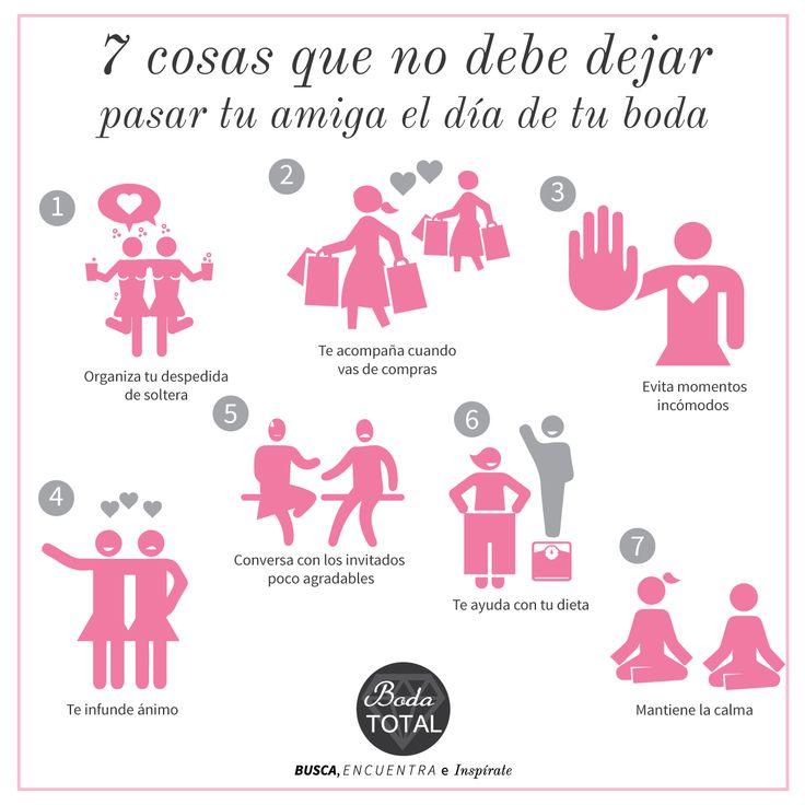 ¿Te tocó ser la dama de honor? Sigue estos pasos y ayuda a tu amiga a no convertirse en una temida #Bridezilla #BodaTotalTips