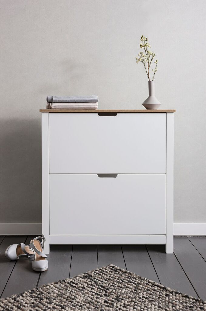 Noa And Nani Tromso Shoe Storage Unit In White Shoe Cabinet | £99.99 | #