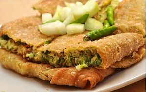 Martabak - Indonesian salty pancake with chicken, egg, or beef #Pindonesia
