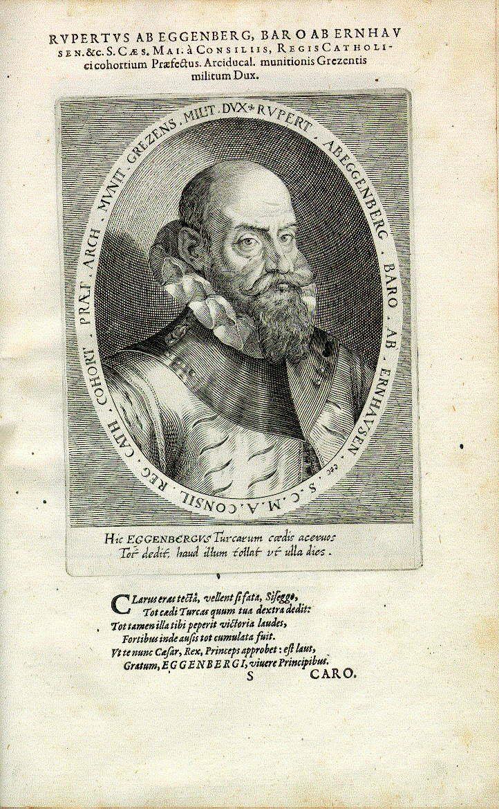 Ruprecht Freiherr von Eggenberg (1545-1611), Kriegsoberst