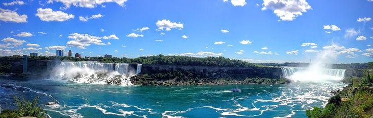 #CataratasDelNiágara, frontera natural entre #EstadosUnidos y #Canadá. Visítalas en un #tour de uno o dos días desde #NuevaYork. http://www.nuevayork.travel/ciudades-para-visitar/cataratas-del-niagara/ #turismo #viajar #NiagaraFalls