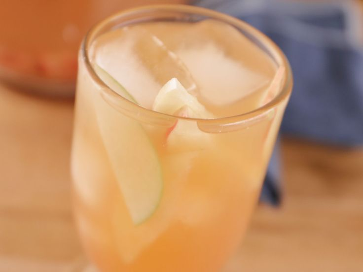 Sparkling Apple Cider Sangria recipe from Bobby Flay via Food Network