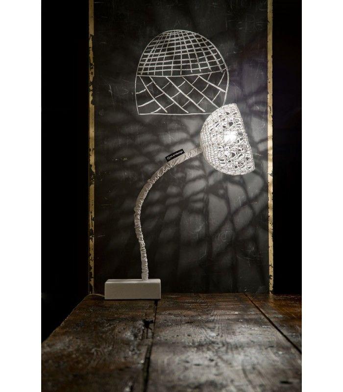 In-es.artdesign - lampada da tavolo Trama #inesartdesign #artdesign #nebulite #design #lamp #madeinitaly #trama #wool #tablelamp #light