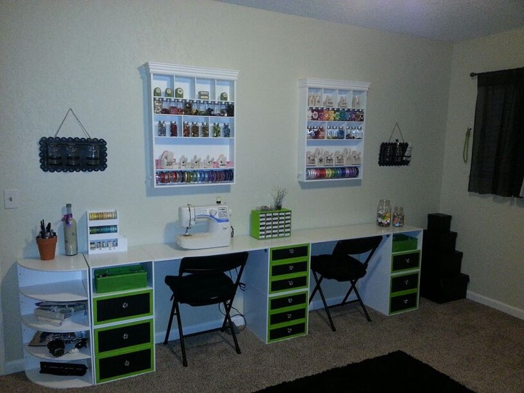 Recollections Store Cubes From Micheals I Painted Them My Craft Room Studio Pinterest