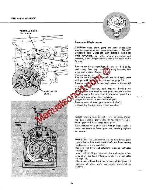 Singer repair manual 114w103
