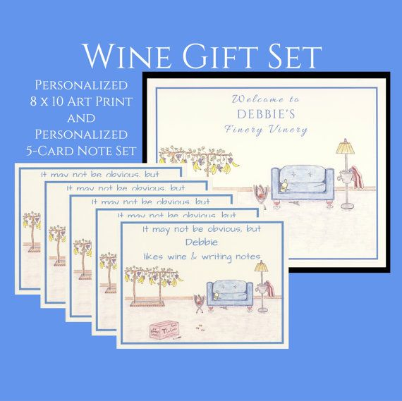 Personalized Wine Gifts Wine Gift Personalized by WhatACardCards