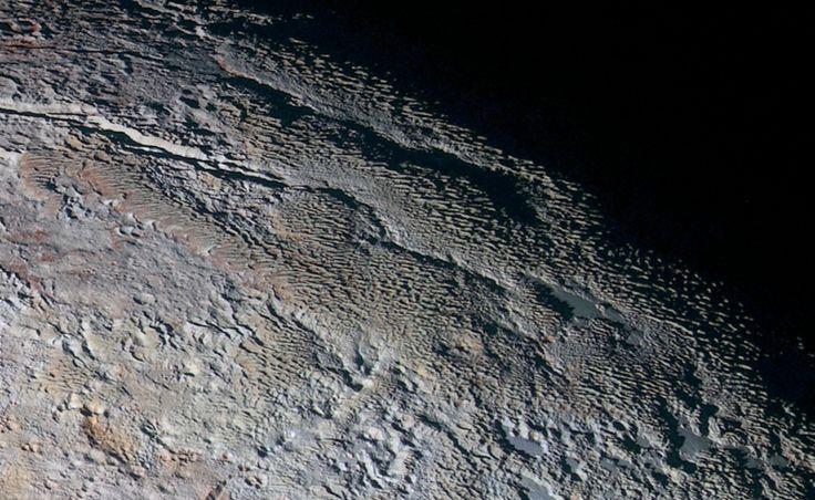 Terrain of Pluto in closeup