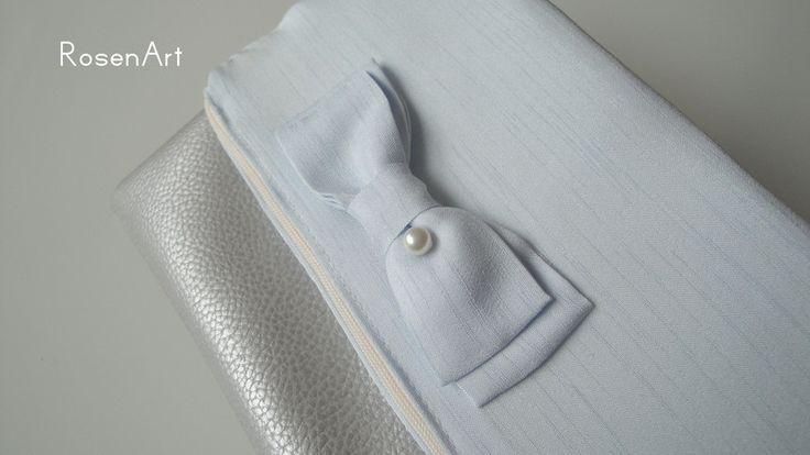 Clutches - Foldover Clutch silber blau Cinderella Märchen - ein Designerstück von Rosenregi bei DaWanda