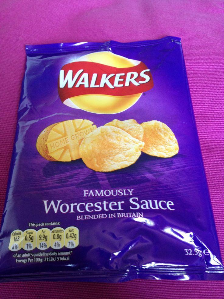 Worcester Sauce crisps (Walkers)