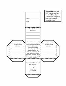 Inference Cubes Making Inferences Activity - Michael Markezinis - TeachersPayTeachers.com