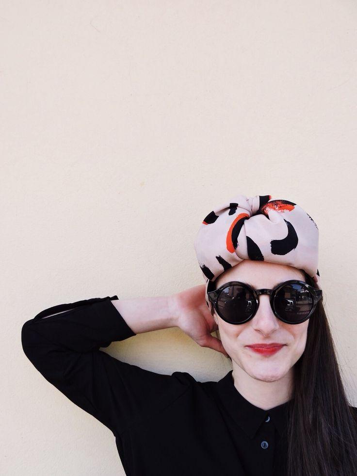 AH/OK Nina Foulard as a turban