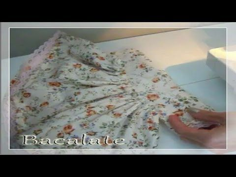 Como fazer VESTIDO de BONECA # 1 Boneca Manu - YouTube