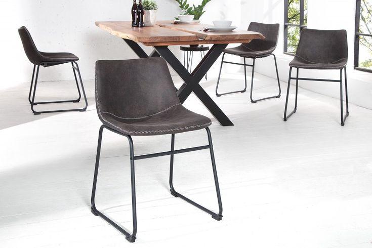 Stolička DJANGO GRAY. Comfort chair in grey color.