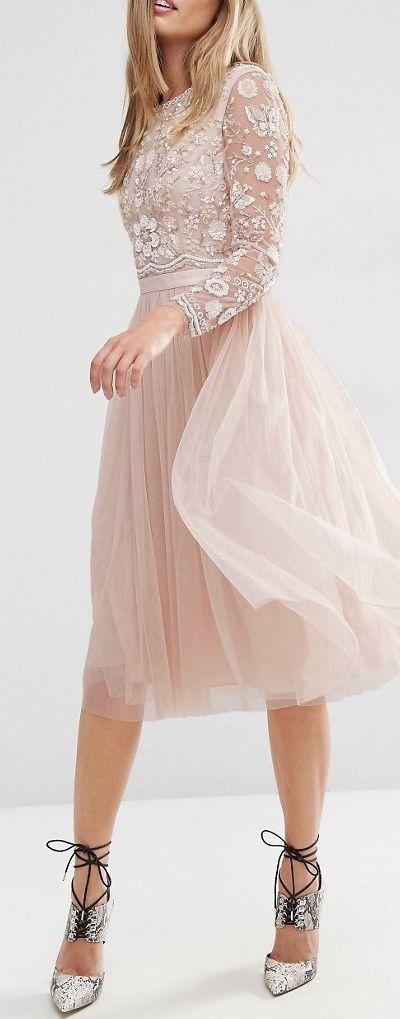 embellished midi dress More