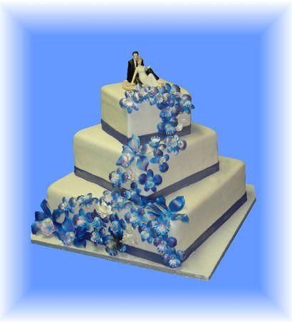 13.Gâteau de mariage Rapsodie en bleu